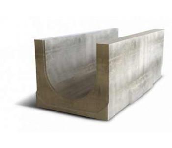 Водоотводный дождеприемный лоток NORMA 400 с уклоном 0.5% N17 арт.2040117