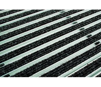 Решетка ACO алюминиевая с войлоком (серый) 60х40 см арт.2180