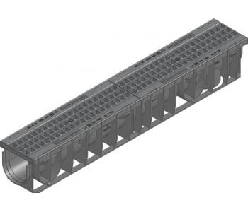 Канал RECYFIX PRO, тип 01,  в сборе с ячеистой решеткой GUGI из полиамида арт.47035