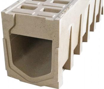 Водоотводной монолитный блок dn110 h230, полимербетон арт.ВМБ.11.23