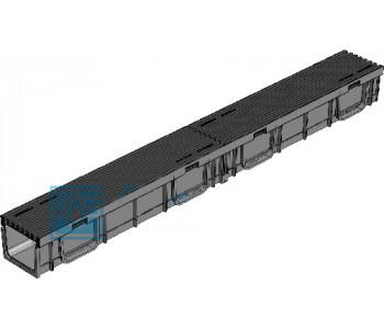 Поверхностный лоток Gidrolica light лв -10.11,5.9,5 с пластиковой решеткой в сборе арт.0809