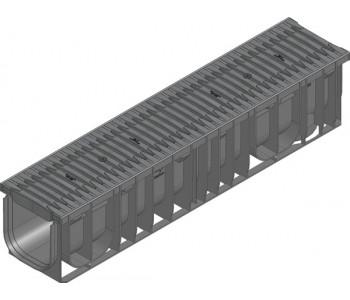 Канал RECYFIX PRO, тип 01, в сборе со щелевой решеткой из полиамида арт.47135