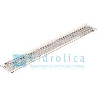 Решетка водоприемная Gidrolica standart рв-10.13,6.100 - штампованная стальная оцинкованная с отверстиями для крепления арт.508/1