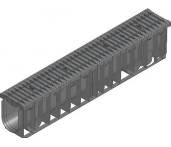 Канал RECYFIX PRO. тип 010, в сборе со щелевой решеткой из полиамида арт.47060