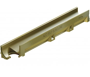 Канал АСО SELF Euroline с оцинкованной решеткой и отформованным отверстием под выпуск DN 100 арт.406546