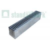 Лоток водоотводный BetoMax ЛВ-11.19.18-Б бетонный с решеткой ячеистой чугунной ВЧ кл.Е (комплект) 04154 арт.4154