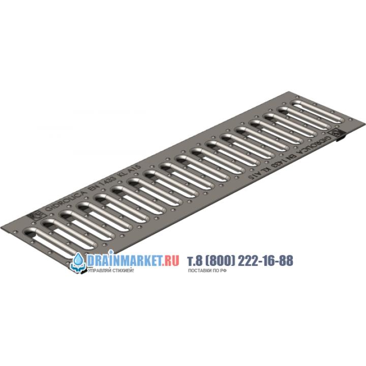 Ливневая штампованная стальная оцинкованная решетка Gidrolica standart рв-10.13,6.50 арт.500