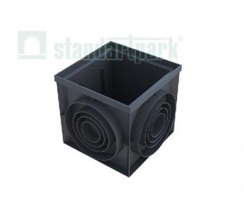 Пластиковый дождеприемник-пескоуловитель PolyMax Basic 400х400 (угловой) 8472.1 арт.8472.1
