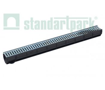 Лоток водоотводный Spark ЛВ-7.9.9-ПП пластиковый с решеткой штампованной стальной кл. А (комплект) 088011 арт.88011