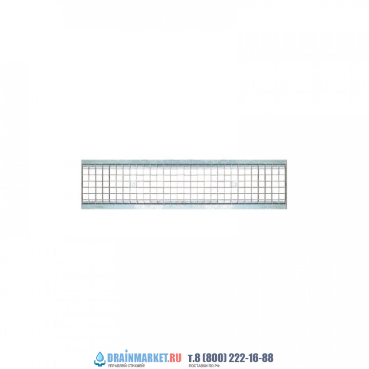 Дождеприемная решетка стальная ячеистая оцинкованная арт.32031В