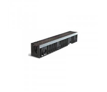 Дождеприемный канал PROFI PLASTIK (комплект. класс нагрузки Е600) арт.1102