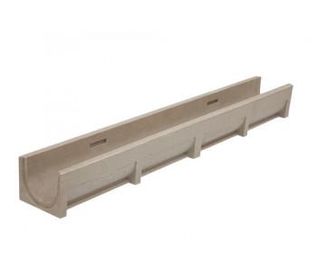Водоотводный полимербетонный лоток Rusdrain DN100 арт.ВЛ.10.12,5