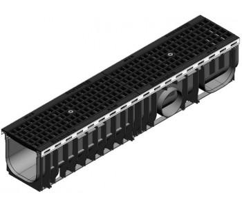 Канал RECYFIX PLUS, тип 80 в сборе с чугунной решеткой  GUGI арт.41080