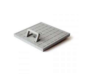Решетка пластиковая с ручкой серая к дождеприемнику EUROPLAST 400 арт.4874