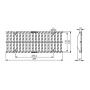 Ливневая решетка щелевая чугунная Gidrolica super рв-15.19.50 вч арт.50159E