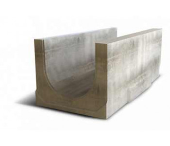Ливневый водоотводный канал NORMA 400 с уклоном 0.5% N2 арт.2040102