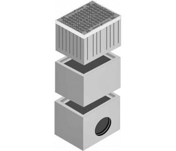 Дождеприемник FASERFIX SUPER из 2-х частей с чугунной щелевой решеткой арт.4052