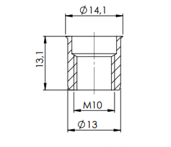 Крепеж Gidrolica для лотков серии гидролика супер арт.105
