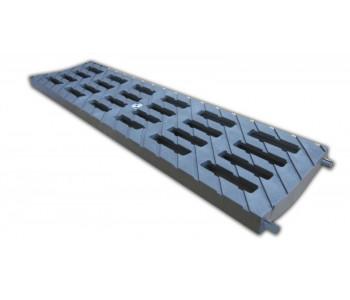 Решетка 100 MEDIUM B-125 (усиленный композитный пластик), цвет металлик арт.ДИ 02317000