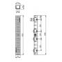 Водоотводный пластиковый лоток Gidrolica light лв -10.11,5.9,5 со стальной решеткой арт.0806