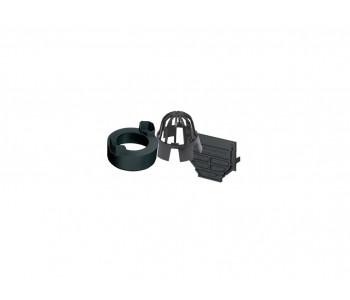 Набор аксессуаров ACO Hexaline черный (2 торцевых заглушки, корзина, патрубок для вертик. отвода DN100) арт.19287