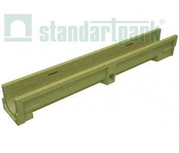 Лоток водоотводный CompoMax Basic ЛВ-10.14.13-П полимербетонный усиленный 700007 арт.700007