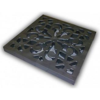 Решeтка пластиковая декоративная цвет металлик для дождеприемника Ecoteck арт.ДИ02417000