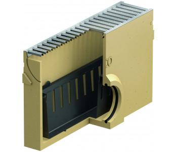 Пескоуловитель ACO SELF Euroline c оцинкованной решеткой и выпуском DN100 арт.38703