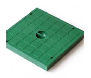 Крышка пластиковая зеленая к дождеприемнику EUROPLAST 400 арт.5919