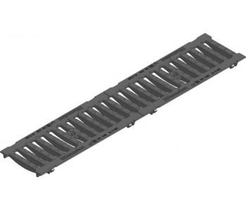 Решетка щелевая чугунная SW 132/20, черная  арт.11063