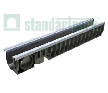 Лоток водоотводный PolyMax Basic ЛВ-10.16.16-ПП пластиковый усиленный 8007 арт.8007