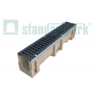 Лоток водоотводный CompoMax ЛВ-11.19.23-П полимербетонный с решеткой щелевой чугунной ВЧ протектор кл. D (комплект) 07102 арт.7102
