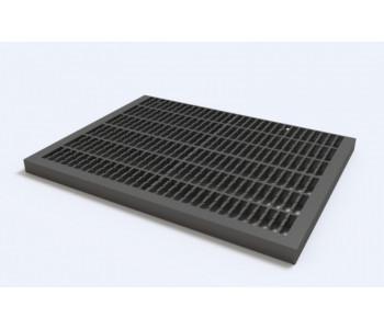 Придверная решетка пластиковая, цвет черный (для комплекта нужно 2 штуки) арт.ДИ 03005000