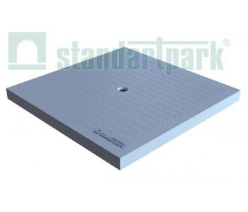 Крышка к дождприемнику PolyMax Basic К-28.28-ПП пластиковая серая 3389-С арт.3389-С