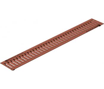 Дренажная решетка Gidrolica standart рв -10.13,6.100 - штампованная медная арт.502