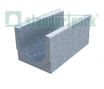 Лоток водоотводный BetoMax ЛВ-40.52.61-Б бетонный с решеткой щелевой чугунной ВЧ кл.F (комплект) 04861 арт.4861