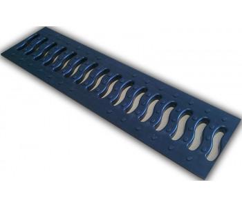Решетка 100 пластиковая Волна, цвет черный арт.ДИ 01905000
