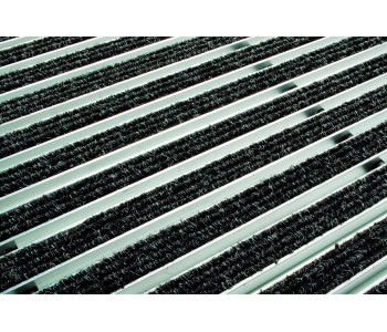 Решетка ACO алюминиевая с войлоком (серый) 75х50 см арт.2181