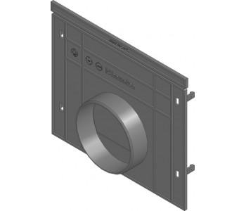 Торцевая заглушка для RECYFIX PRO, тип 010 из оцинкованной стали с горизонтальным патрубком арт.41387