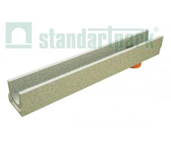 Лоток водоотводный BetoMax Basic ЛВ-10.14.13-БВ бетонный с вертикальным водоотводом 400009 арт.400009
