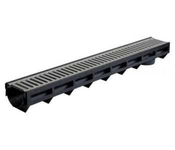 Дренажный канал со штампованной оцинкованной решеткой арт.1091