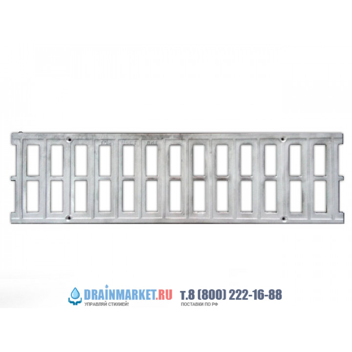 Алюминиевая дренажная решетка DN100 для пластиковых лотков