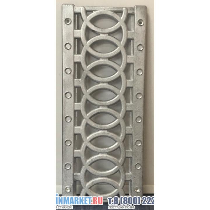 Алюминиевая ливневая решетка DN100 для пластиковых лотков